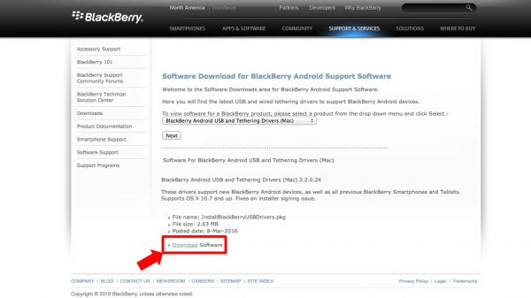 Software Download for BlackBerry Android Support Software2