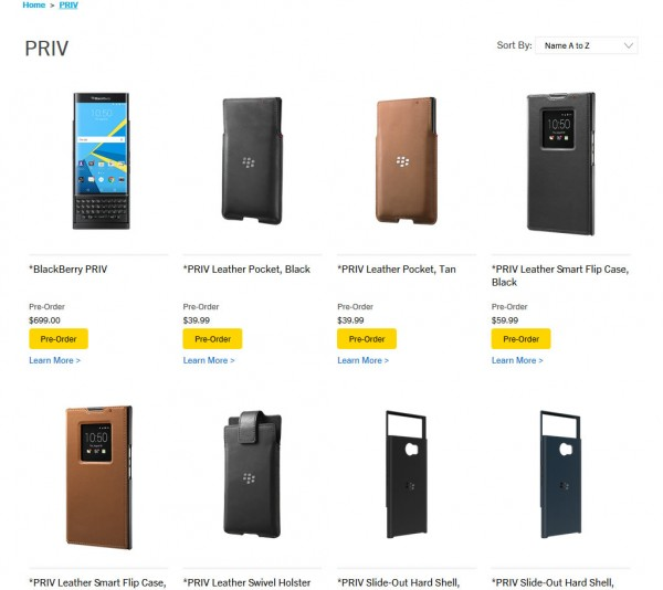 BlackBerryPriv Cases